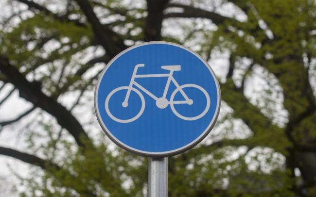 Señalización de bicicleta