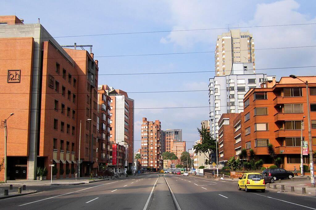 Fotografía de la carrera séptima con calle 65 de Bogotá
