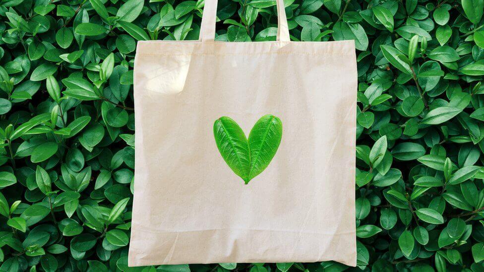 Bolsa de tela, cuidar al medio ambiente