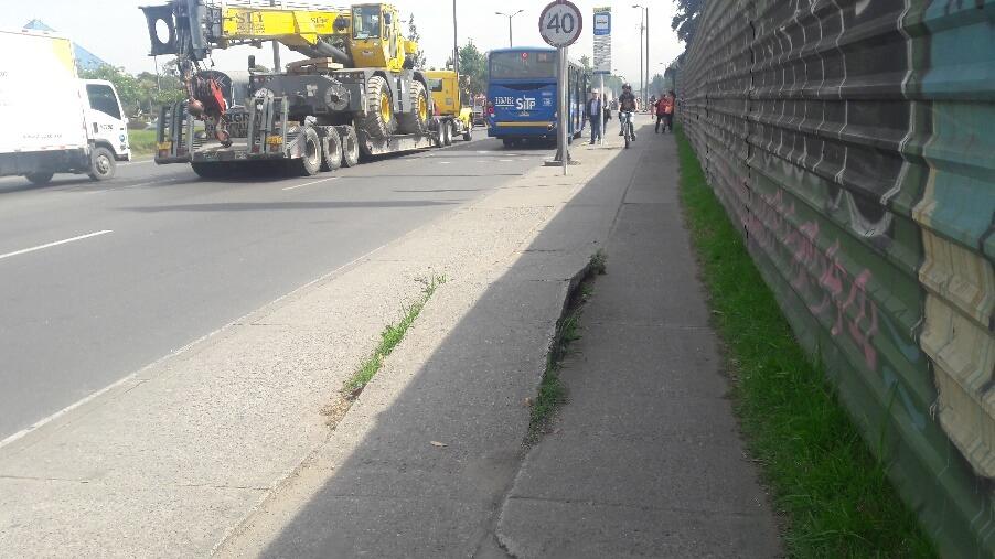 Cicloruta con el piso roto