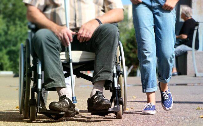 fotografía de una persona de discapacidad