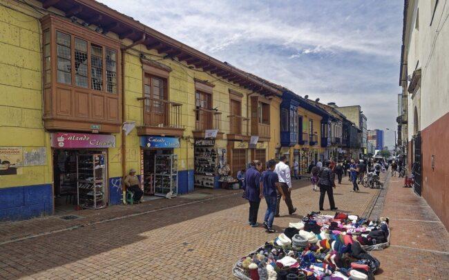 ventas informales en el centro de Bogotá